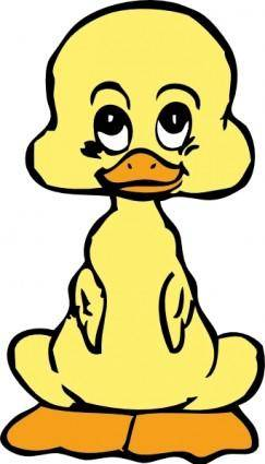 free vector Baby Duck clip art