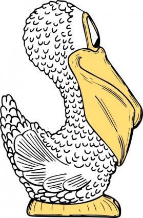 Pelican Side View clip art