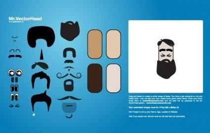 free vector VectorHead - mr. potato head idea