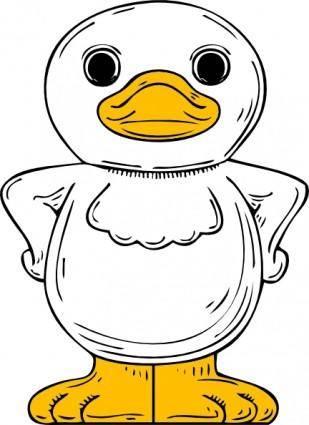 Standing Duck clip art