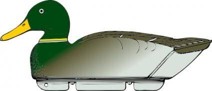 Duck Decoy Side View clip art