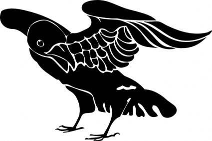 free vector Black Crow clip art