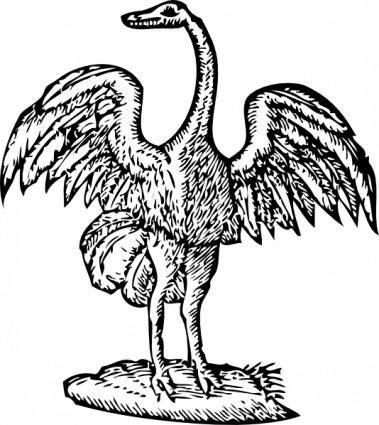 free vector Bird Engraving clip art