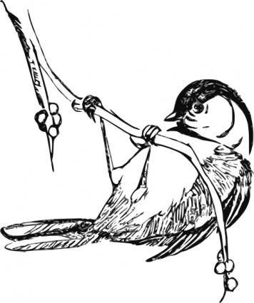 Black Capped Chickedee clip art