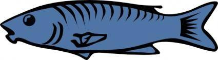 free vector Blue Fish clip art