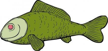 free vector Green Fish clip art