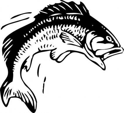 Jumping Fish clip art