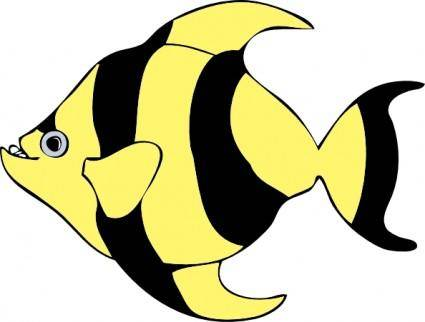 free vector Striped Tropical Fish clip art