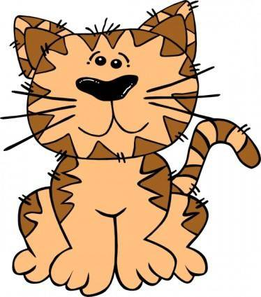 free vector Cartoon Cat Sitting clip art
