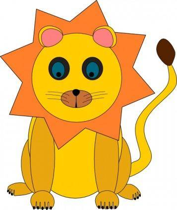 Toy Lion clip art
