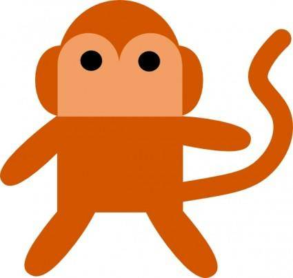 free vector Cheeky Monkey clip art
