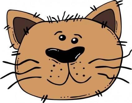Cartoon Cat Face clip art 118990