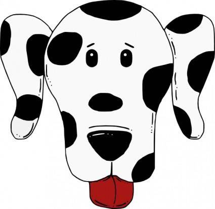 free vector Spotty Dog clip art
