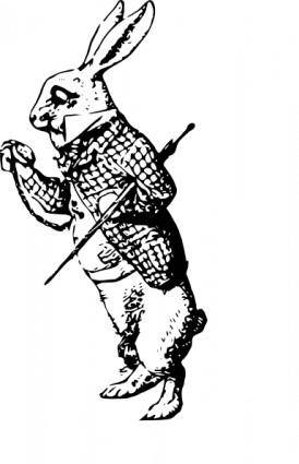 The White Rabbit clip art