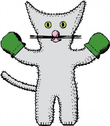 Kitten With Mittens clip art