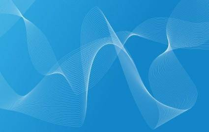 free vector Cool Blue Waves and drops Free Vector