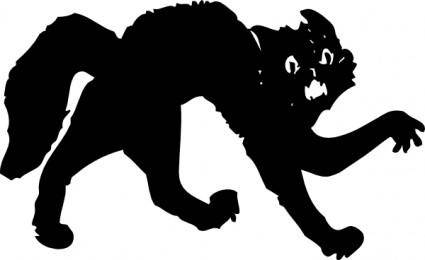 free vector Black Cat clip art