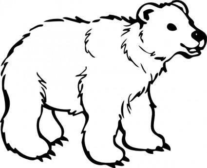 Young Bear clip art