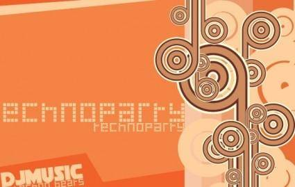 free vector Free Techno Party Vector Graphic