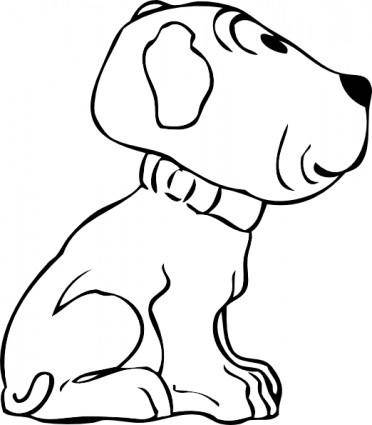 free vector Puppy Side View clip art