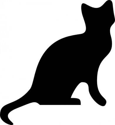 free vector Cat Silhouette clip art