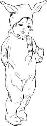 free vector Bunny Suit clip art