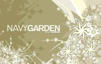 free vector Free Vector Composition Navy Garden