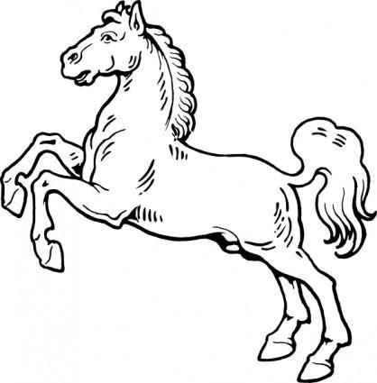 White Horse clip art