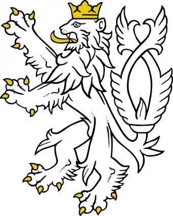 free vector White Lion clip art