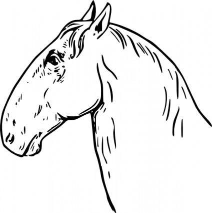 free vector Ram Headed Horsehead clip art