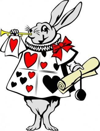 free vector Rabbit From Alice In Wonderland clip art