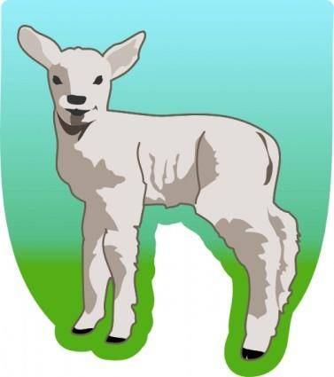 free vector Small Sheep clip art