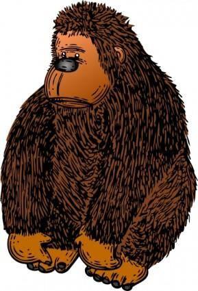 free vector Gorilla With Colour clip art