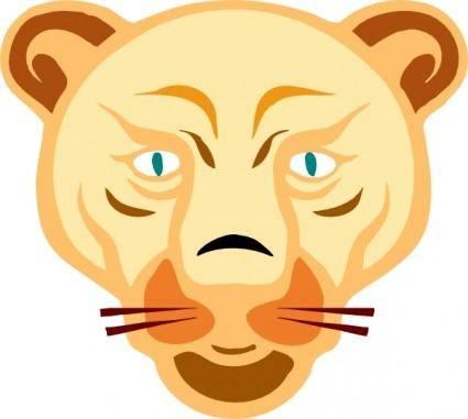 free vector Lion Face clip art