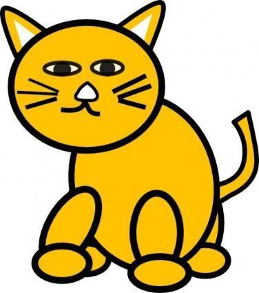 free vector Cat Round clip art