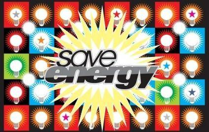 free vector Save Energy Vector