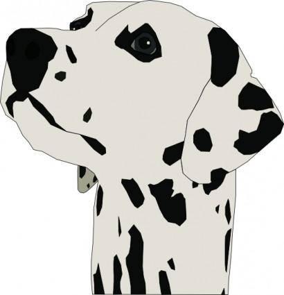 free vector Pes Dalmatin clip art