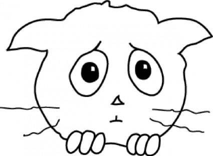 Cat Sad clip art