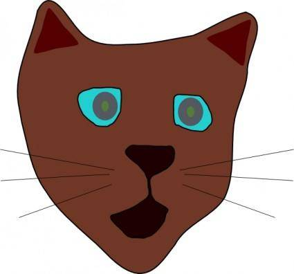 free vector Cat Face clip art