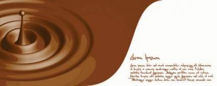 Fragrant chocolate 01 vector