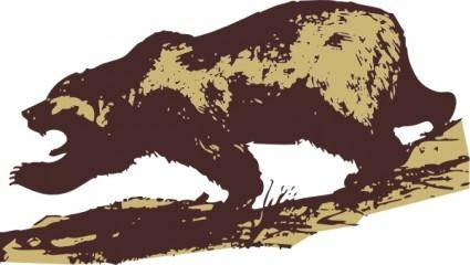Attacking Bear clip art