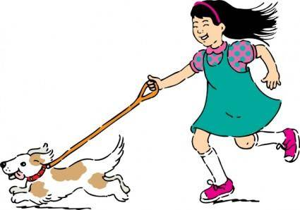 free vector Walking Dog clip art