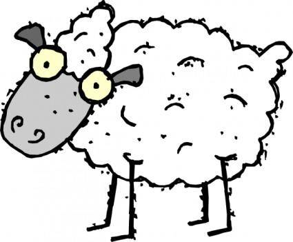 free vector Cartoon Sheep clip art