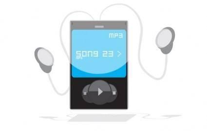 free vector Free MP3 Player Vector Graphic