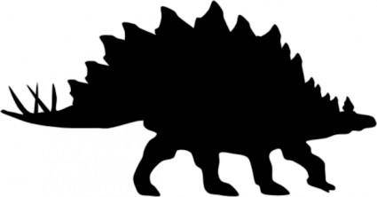Stegosaurus Shadow clip art