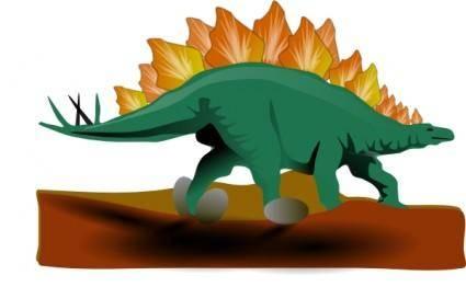Stegosaurus clip art
