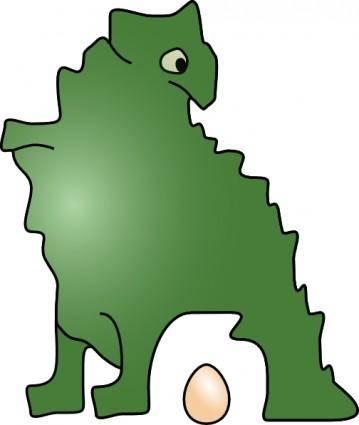 Dinosaur Laid An Egg clip art