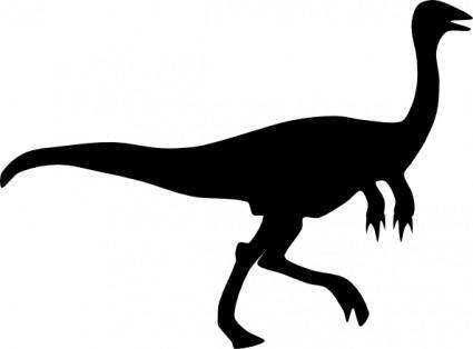Gallimimus Shadow clip art