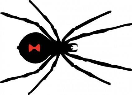 free vector Black Widow Spider clip art