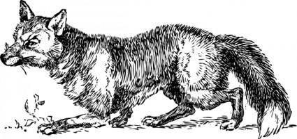 Hunting Fox clip art